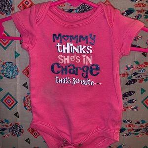 "Pink ""Mommy Thinks"" Onesie"